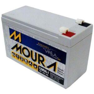 Bateria Selada 7ah 12v Tecnologia Vrla Agm alarmes e cercas elétrica