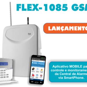 Central de Alarme FLEX-1085 Gsm com Teclado
