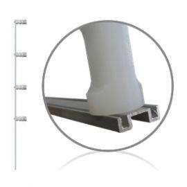 Haste Aluminio 75 cm perfil M para cerca elétrica