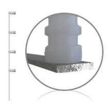 Haste Aluminio cerca eletrica REFORÇADA com 04 isoladores