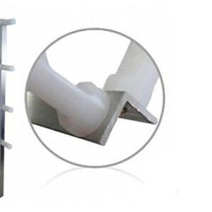 Haste Cantoneira 8 isoladores 75cm reforçada para cercas elétricas CONFISEG