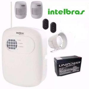 Kit Alarme Intelbras sem fio Anm 3004 2 sensores infra