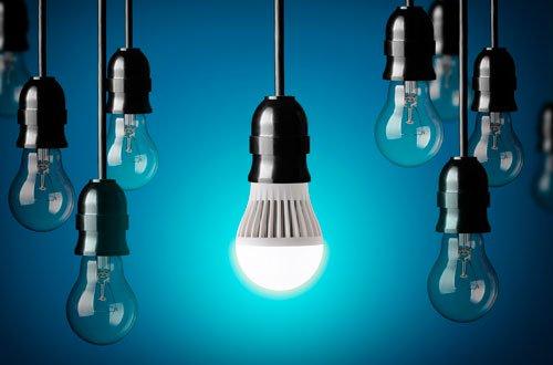 A utilização de lâmpadas led no projeto residencial e comercial de iluminação.