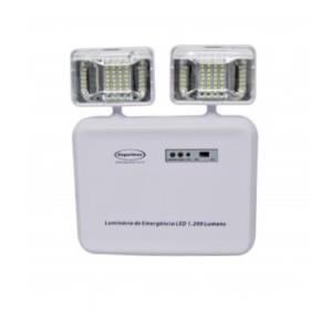 Luminária De Emergência Led 1.200 Lumens 2 Faróis
