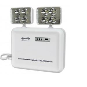 Luminária De Emergência Led 2200 Lumens Segurimax