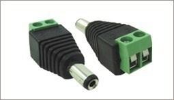 Conector Plug P4 Macho Alimentação câmeras infravermelho UTP