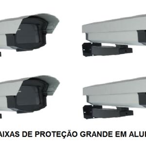 caixas de proteção alumínio em Salvador. Kit 4 caixas de proteção alumínio grande para câmeras profissionais e infra