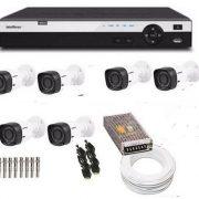 Kit Cftv Hdcvi 6 cameras Intelbras Dvr Intelbras Hdcvi 1008