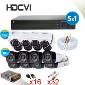 Kit Hdcvi em Salvador. Kit Hdcvi Completo 16 Cameras + Hvr - Greatek
