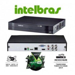 Dvr Stand Alone Intelbras 4 Canais 1004 Hdcvi 720p 1080p Tríbrido 5 Em 1
